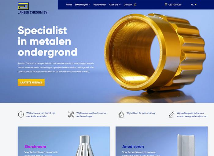 Jansen ChroomWordPress design case