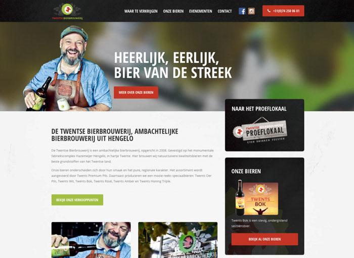Twentse BierbrouwerijWordPress site case