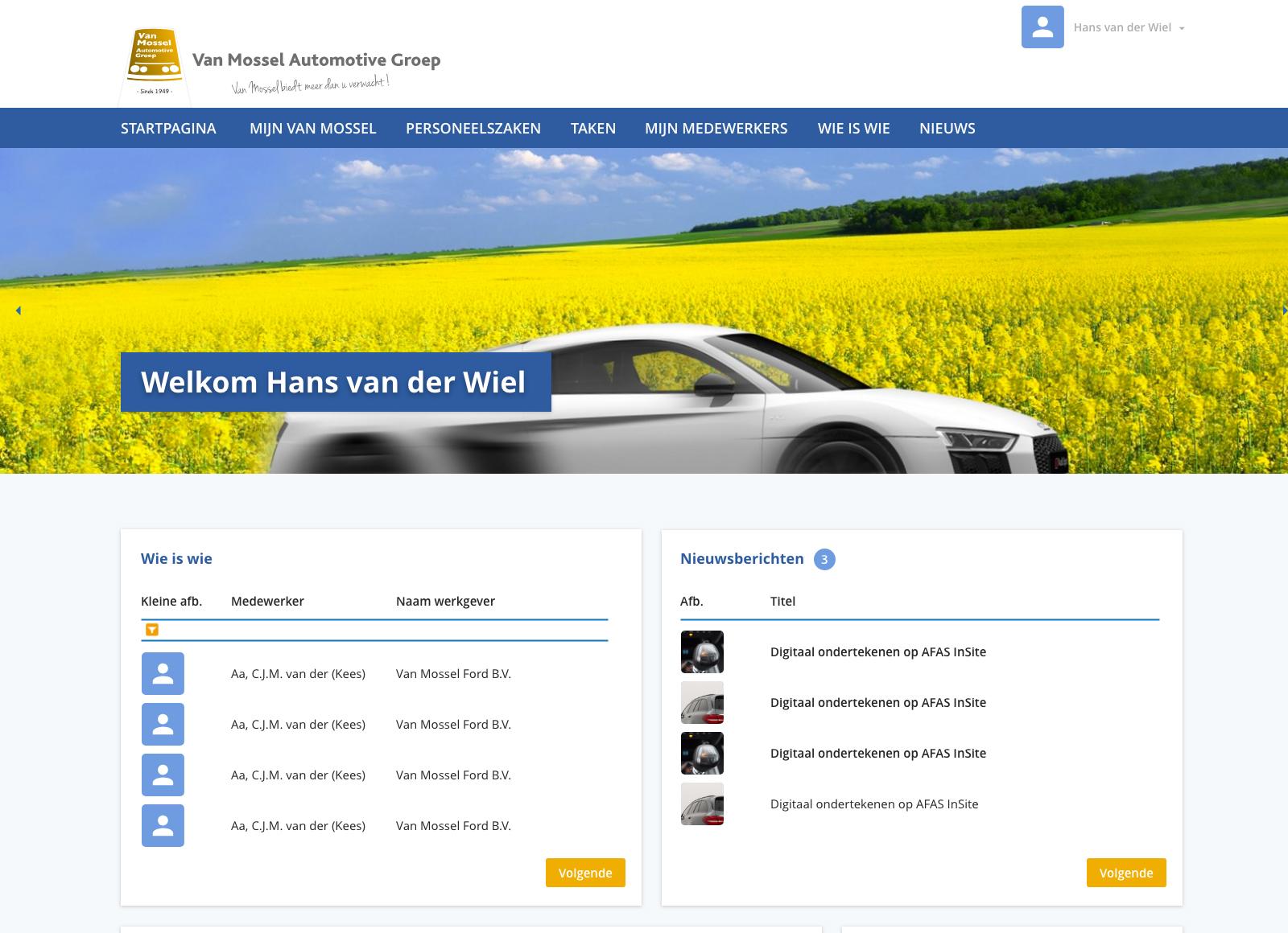 Van Mossel Automotive GroepAFAS InSite case