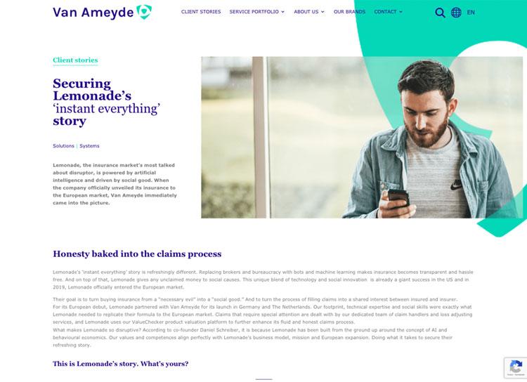 Van AmeydeWordPress site case