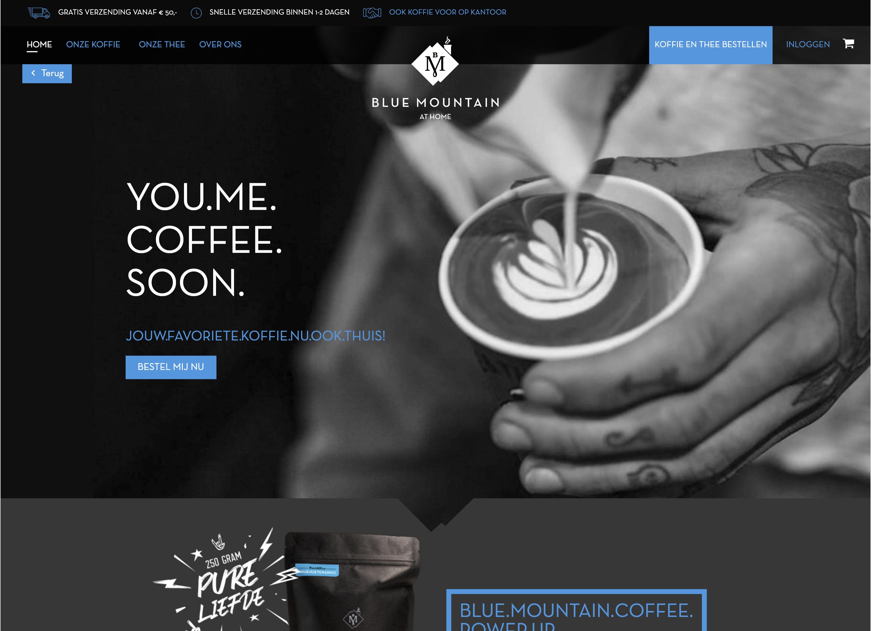 Blue MountainMagento webshop case