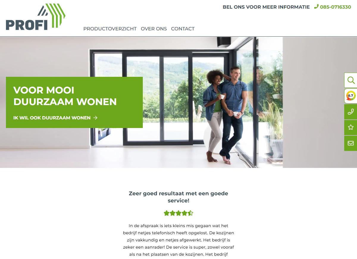 Profi KozijnenWordpress Website case