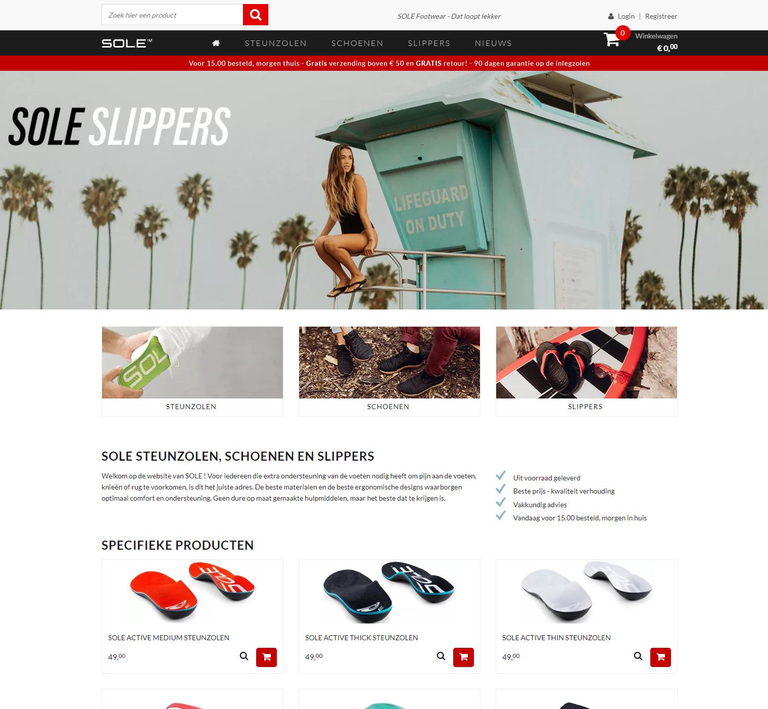 YoursoleCCV Shop webshop case