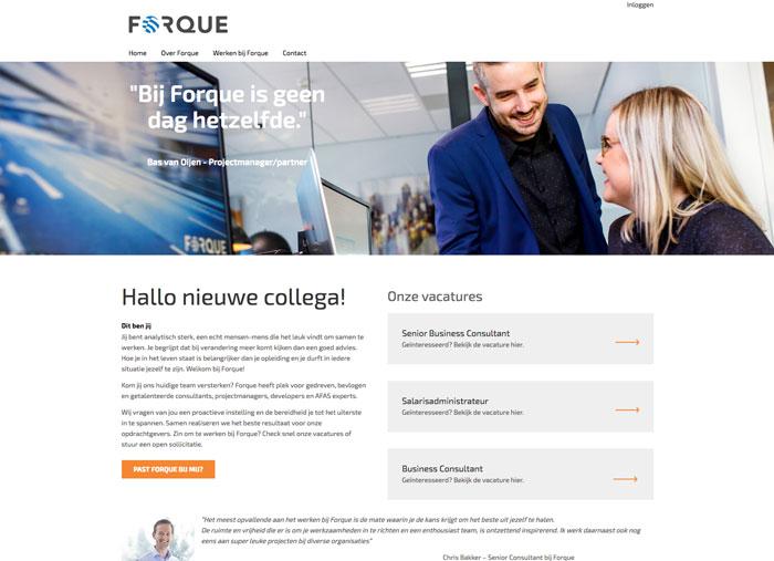 ForqueAFAS Werkenbij case